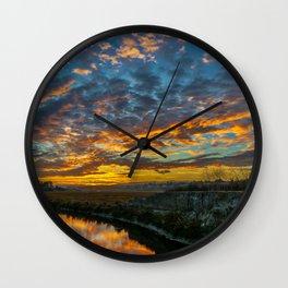 Back Bay Sunrise Colors v Wall Clock