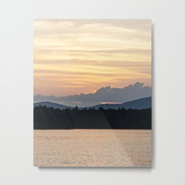 a simple sunset Metal Print