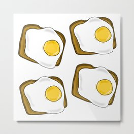 Sunny Side Up Toasts Metal Print