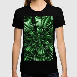 Green Forest Glass - Abstract Fractal Art T-shirt