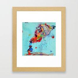 Flight by Letter by Nadia J Art Framed Art Print