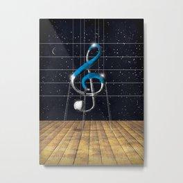 Composizione musicale Metal Print