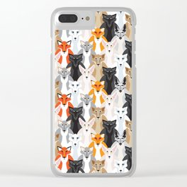 Friendly Foxes Clear iPhone Case