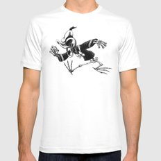 Donald Duck White MEDIUM Mens Fitted Tee