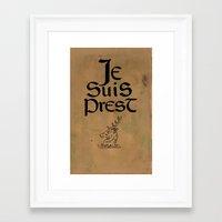 outlander Framed Art Prints featuring Je Suis Prest by Skart87