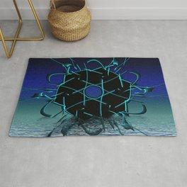 Black Geometry Rug