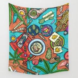 Ocean Grown : Cannabis Altar III Wall Tapestry