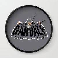 gandalf Wall Clocks featuring Gandalf by Buby87
