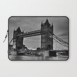 Tower bridge in black and white. Laptop Sleeve