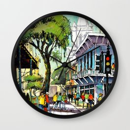 Duval Street, Key West Wall Clock
