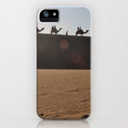 Camel Safari in Thar iPhone Case