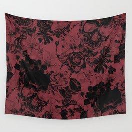 DARK SKULLS HALLOWEEN Wall Tapestry