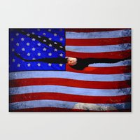america Canvas Prints featuring America!!  by Alaskan Momma Bear