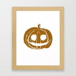 Pumpkin Hand Print Framed Art Print