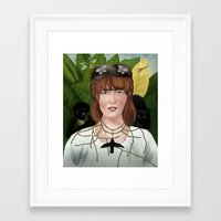 frida khalo Framed Art Prints featuring Florence as Frida khalo.  by tantoun