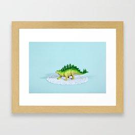 Doily Stegosaurus Framed Art Print