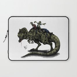 Zombies Riding a Trex Laptop Sleeve