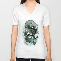 nightmare V-neck T-shirts featuring Nightmare by Gaetan billault