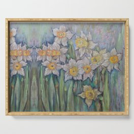 Narcissus SPRING FLOWERS IN THE GARDEN Serving Tray