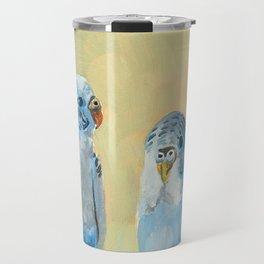Blue Parakeets Travel Mug