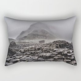 Early foggy morning in the land of hexagonal stones Rectangular Pillow
