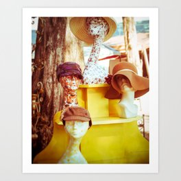 Sunny hats for Sale Art Print