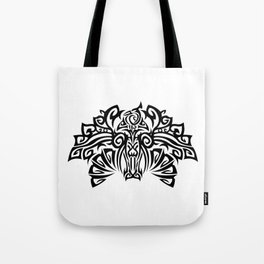 Tattoo with a fantasy bird. Mixed design of two styles: tribal and modern. Tote Bag