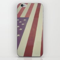 flag iPhone & iPod Skins featuring Flag by Karin Elizabeth