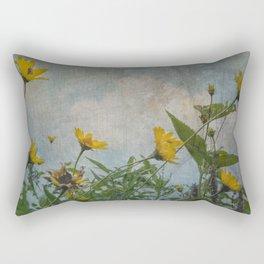 Sunflowers Reach for the Sky Rectangular Pillow