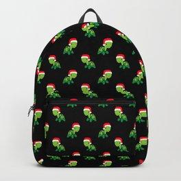 Turtle Sea Animal Merry Christmas Santa Claus  Backpack