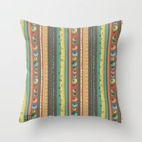 stripes Throw Pillows featuring Stripes by Catru