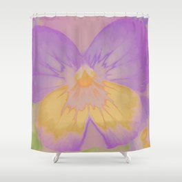 Pansies, The Earth Laughs In Flowers Shower Curtain