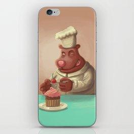 Bear Cherry Cupcake iPhone Skin