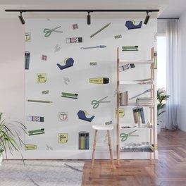 Office Supplies Wall Mural