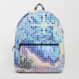 Pixelated Nebula Blue Backpack