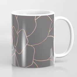 Rosegold  blossom on grey - Pink metal - effect flower Coffee Mug