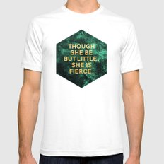 Though she be but little, she is fierce White Mens Fitted Tee SMALL