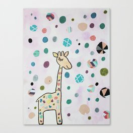 Nursery Art Cute Kawaii Giraffe Canvas Print