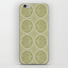 Grisaille Antique Gold Neo Classical Ovals iPhone Skin