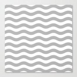 Wavy Stripes Patten Gray Canvas Print