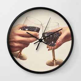 Primordial Wine Wall Clock