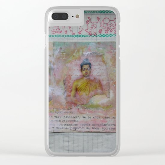 Buddha Collage - JUSTART (c) Clear iPhone Case