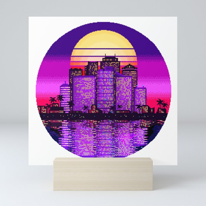 Sunset City Mini Art Print