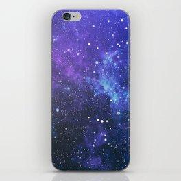 Purple Galaxy Painting iPhone Skin