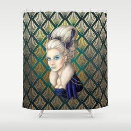 The Bluebird Renaissance Shower Curtain