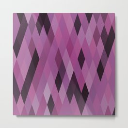 Muted Berry Color Harlequin Pattern Metal Print