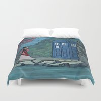 hallion Duvet Covers featuring Cannot Hide Who I am Inside by Karen Hallion Illustrations