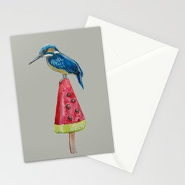 Kingfisher on ice 4 Stationery Cards