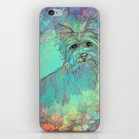 yorkie iPhone & iPod Skins featuring Dog Illustration ; Yorkie by Lizzy Zumbaugh