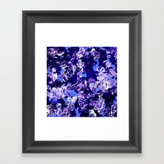 FLORAL FANTASY 2 Bold  Blue Lavender Purple Abstract Flowers Acrylic Textural Painting Garden Art Framed Art Print
